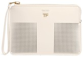 Tom Ford Leather Perforated Pouch