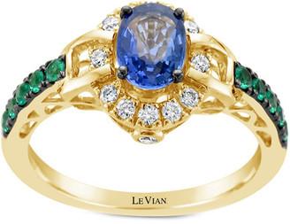 LeVian Le Vian 14K 1.08 Ct. Tw. Diamond & Gemstone Ring