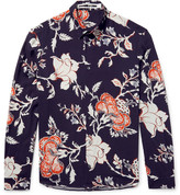 McQ by Alexander McQueen Slim-Fit Floral-Print Voile Shirt