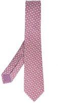 Bulgari coffee print neck tie