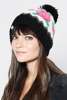 Urban Outfitters Coal Rose Beanie