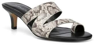 Donald J Pliner Klarisa Snake Skin Embossed Asymmetrical Slide Sandal