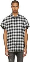 R 13 Black Oversized Cut Off Shirt