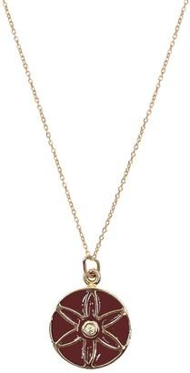 Batya Kebudi Seed Of Life With Burgundy Enamel Necklace - Rose Gold