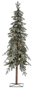Sterling 6Ft. Pre-Lit Flocked Natural Cut Alpine Tree with 100 Clear Lights