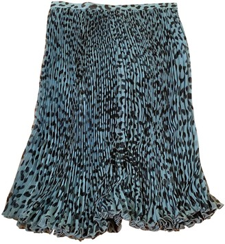 Blumarine Turquoise Silk Skirt for Women