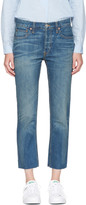 RE/DONE Re-done Indigo Relaxed Crop Jeans