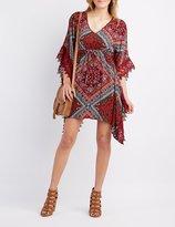 Charlotte Russe Crochet-Trim Kimono Shift Dress
