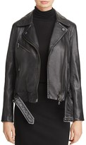 Max Mara Chieti Leather Biker Jacket