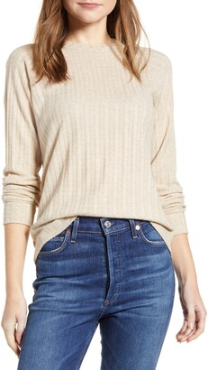 Loveappella Loveapella Ribbed Long Sleeve Top