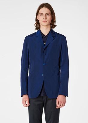 Paul Smith Men's Slim-Fit Indigo Ripstop Nylon Blazer