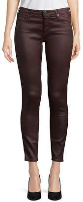 Adriano Goldschmeid Ag Jeans The Legging Plum Super Skinny Ankle Cut