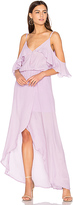 Karina Grimaldi Rockefeller Solid Maxi Dress