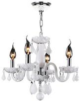 Worldwide Lighting Clarion 4-Light Crystal Chandelier Crystal