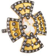 Freida Rothman Maltese Cocktail Ring, Size 5-9