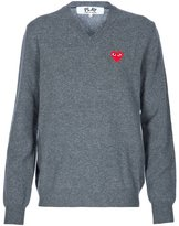 Comme des Garcons embroidered heart jumper - men - Wool - L