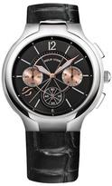Philip Stein Teslar Men's Round Chronograph Embossed Leather Quartz Watch