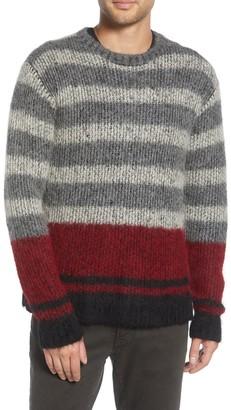John Varvatos Easy Fit Jacquard Knit Stripe Pullover