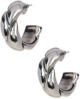 Simon Sebbag 19mm Sterling Silver Small Braided Hoop Earrings