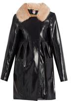 SHRIMPS Locket patent faux-leather coat