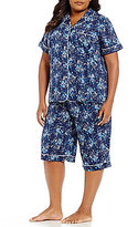 Cabernet Plus Floral Bermuda Pajamas