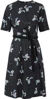 Preen by Thornton Bregazzi Janine pleated printed cady dress