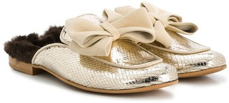 MonnaLisa TEEN slip-on bow loafers