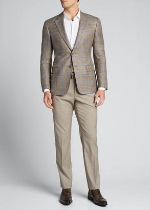 Giorgio Armani Men's Windowpane Two-Button Jacket