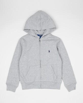 Polo Ralph Lauren Girl's Grey Hoodies - Full Zip Hoodie - Kids - Size S (Kids) at The Iconic