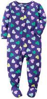 Carter's Baby Girl Print Footed Pajamas