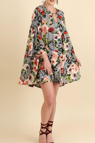 Umgee USA Grey Floral Plus Dress