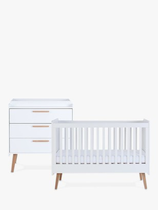 Silver Cross Brighton Cotbed and Dresser, White
