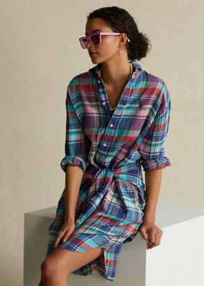 Ralph Lauren Plaid Linen Shirtdress
