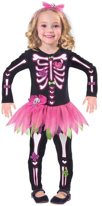 Halloween Fancy Bones Skeleton Costume
