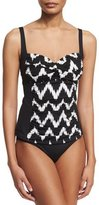 LaBlanca La Blanca Ruched Sweetheart Printed Tankini Top, Women's