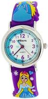 Ravel Girls Time Teacher 3D Ice Princess Purple Silicone Strap Watch R1513.75