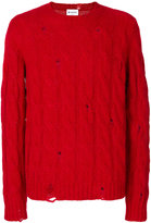 Dondup distressed cable knit jumper