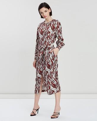 Reiss Inaya Printed Midi Dress