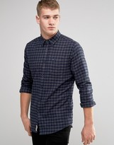 Pepe Jeans Pepe Cromwell Shirt Melange Flannel Check Navy