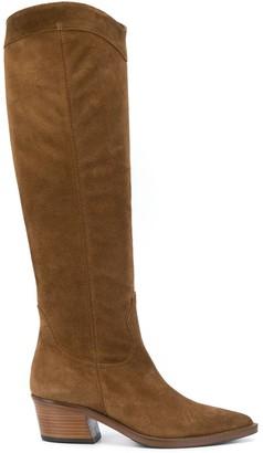 Paul Warmer Suede Knee-Length Boots