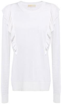 MICHAEL Michael Kors Ruffled Knitted Sweater