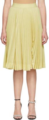 Calvin Klein Yellow Pleated Rip Skirt