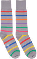 Paul Smith Grey Bright Stripe Socks