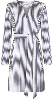 Cat Turner London Kaftan Dress, Blue & White Stripes