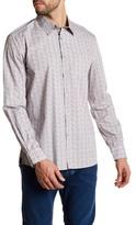 Kenneth Cole New York Long Sleeve Print Woven Modern Fit Shirt