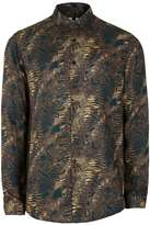 Topman Brown Baroque Printed Casual Shirt