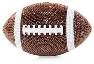 Judith Leiber Couture Football Pigskin Crystal Clutch