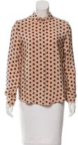 Mulberry Floral Print Silk Top