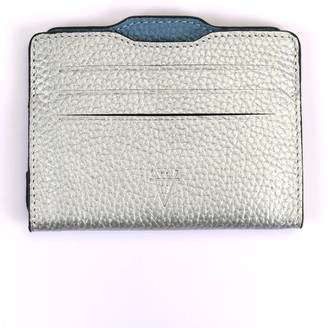 Atelier Hiva Double Card Holder Silver & Deep Blue