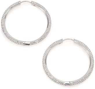 Adriana Orsini Pave Hoop Earrings/1.4""